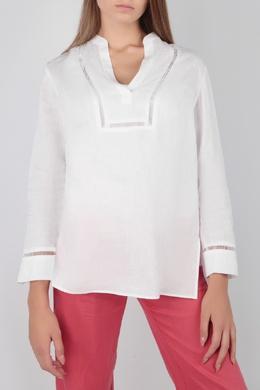 Белая блуза с ажурной отделкой Escada Sport 2819184492
