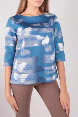 Голубая блуза с бабочками Escada Sport 2819184466