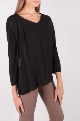 Черная блуза с V-вырезом Escada Sport 2819184465