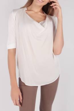 Белая блуза необычного кроя Escada Sport 2819184490
