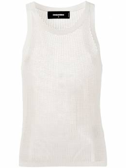 Dsquared2 crochet-mesh tank top S71HA1001S17311