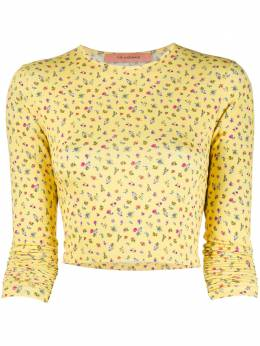 Andamane cropped floral T-shirt Q02M019