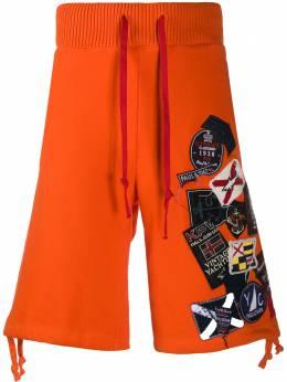 Paul & Shark спортивные шорты с нашивками P20P1479