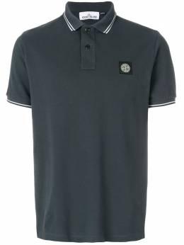 Stone Island рубашка-поло с контрастной отделкой 101522S18