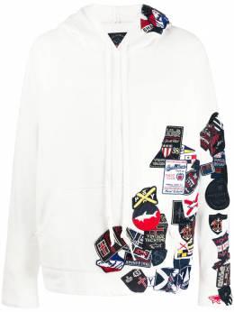 Paul & Shark x Greg Lauren patch hoodie P20P1470