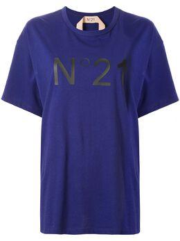 No. 21 футболка оверсайз с логотипом 20EN2M0F0616314
