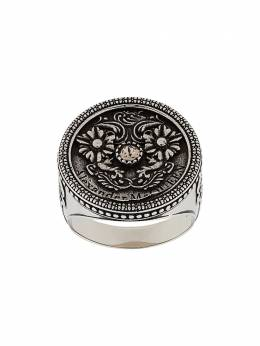 Alexander McQueen engraved ring 611290I94VY