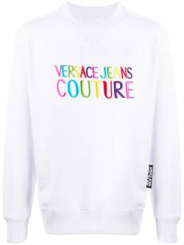 Versace Jeans Couture embroidered logo sweatshirt B7GVB7GG30325