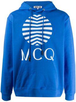 MCQ by Alexander McQueen circular graphic print hoodie 545412ROT08