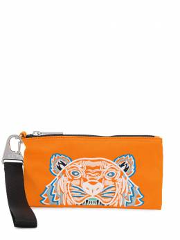 Kenzo tiger embroidered zipped wallet FA55PM313F20