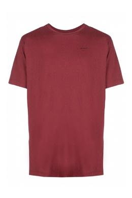 Бордовая футболка с логотипом Off-White 2202184538