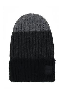 Серая шапка бини из акриловой пряжи Ea7 2944184725