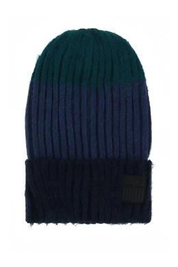 Синяя шапка бини с отворотом Ea7 2944184726