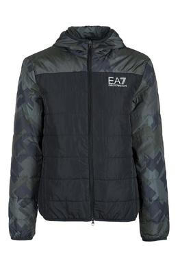 Стеганая куртка цвета хаки Ea7 2944184675