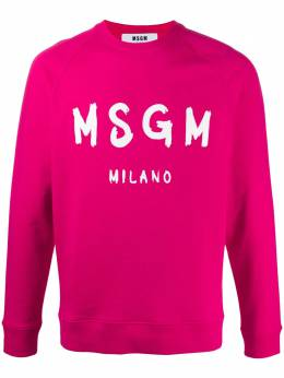 MSGM logo-print raglan-sleeved sweatshirt 2840MM104207099