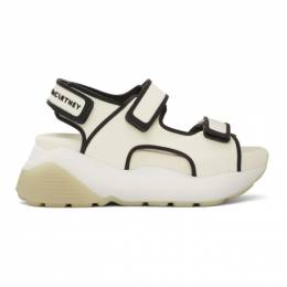 Stella McCartney Off-White and Black Contrast Sandals 800021N0018