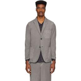 Issey Miyake Men Grey Faded Basic Blazer ME06FD029