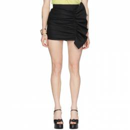 Red Valentino Black Gathering Front Skirt Shorts TR3RFC304R6