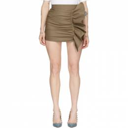 Red Valentino Beige Gathering Front Skirt Shorts TR3RFC304R6