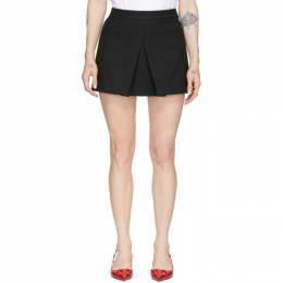 Red Valentino Black Tricotine Front Skirt Shorts TR3RFC351Y1