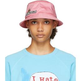 Marc Jacobs Pink Logo Bucket Hat V9000001