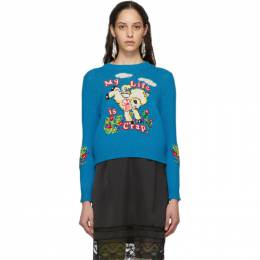 Marc Jacobs Blue Magda Archer Edition The Intarsia Sweater N6000002