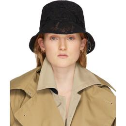 Valentino Black Valentino Garavani Lace Bucket Hat TW2HGA34KBP