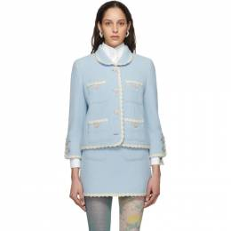 Marc Jacobs Blue The Tweed Jacket V2000012