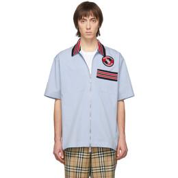 Burberry Blue Hagan Casual Shirt 8023790