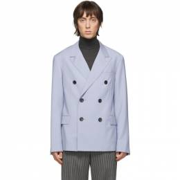 Lanvin Blue Wool Mohair Double-Breasted Blazer RM-JA0271-4394-P20