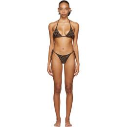 Lisa Marie Fernandez Black and Brown Zebra Pamela Bikini 2020RES197 ZEC