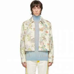 Lanvin Off-White Denim Flower Fairy Jacket RM-OU0009-4417-E20
