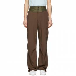 Lanvin Brown Contrast Waistband Cargo Pants RM-TR0025-4366-P20
