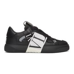 Valentino Black and White Valentino Garavani Elastic Low-Top Sneakers TY2S0C58WRQ