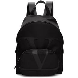 Valentino Black Valentino Garavani VLogo Backpack TY2B0887MLI