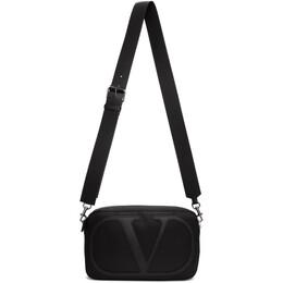 Valentino Black Valentino Garavani VLogo Messenger Bag TY2B0860MLI