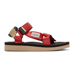 Suicoke Red DEPA-Cab Sandals OG-022Cab / DEPA-Cab
