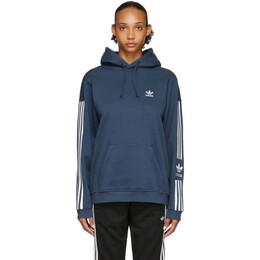 Adidas Originals Blue Lock Up Tech Hoodie FM3801