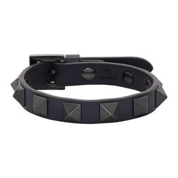 Valentino Navy Valentino Garavani Rockstud Bracelet TY2J0801VH3