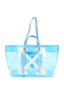 Полупрозрачная голубая сумка с логотипом Arrows Off-White 2202184361