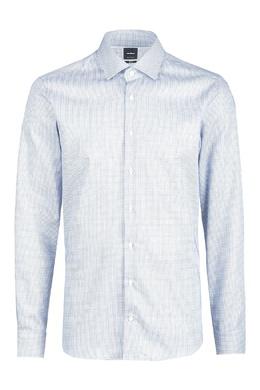 Голубая рубашка в мелкую клетку Strellson 585184831