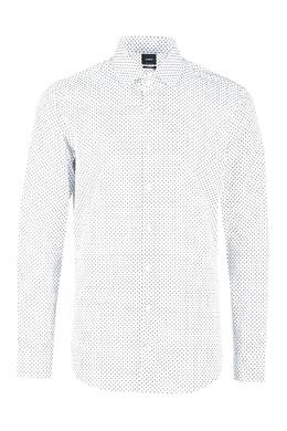 Белая рубашка с черным принтом Strellson 585184830