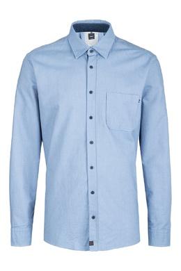 Синяя рубашка с карманом Strellson 585184832