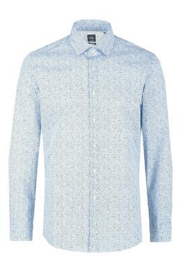 Голубая рубашка в крапинку Strellson 585184828