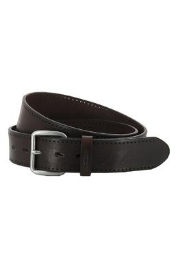 Темно-коричневый ремень с перфорацией Strellson 585184922