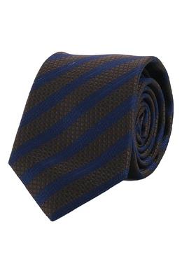 Коричневый галстук с узором в полоску Strellson 585184939