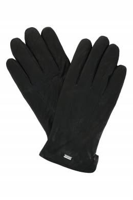 Черные перчатки из кожи Strellson 585184940