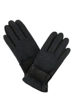 Кожаные перчатки с текстильной отделкой Strellson 585184941