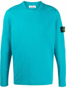 Stone Island fleece logo patch sweatshirt MO7215532B9