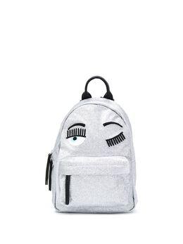 Chiara Ferragni winking eye-appliqué backpack 20PECFZ072